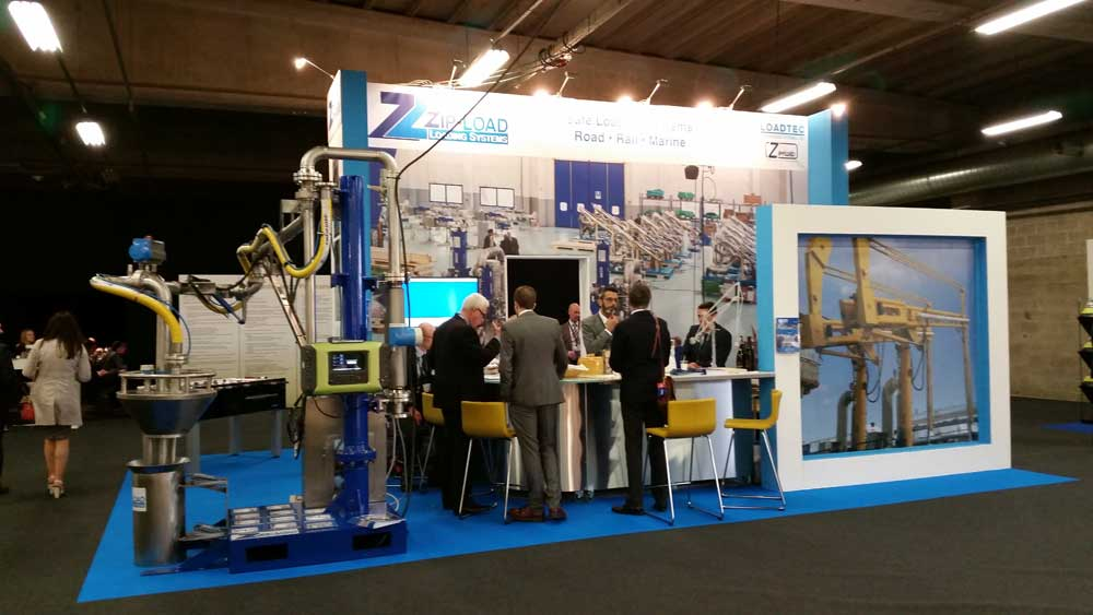 Carbis Loadtec stand at StocExpo 2016 in Antwerp, Belgium, presenting the Zip-Load range of safe loading systems