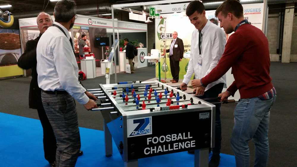 The Zip-Load Foosball Challenge presented by Loadtec/Zipfluid at StocExpo 2016 in Antwerp, Belgium