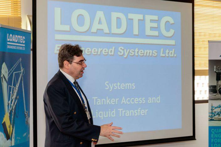 The British Consul General in Dubai, Paul Fox, introducing Loadtec