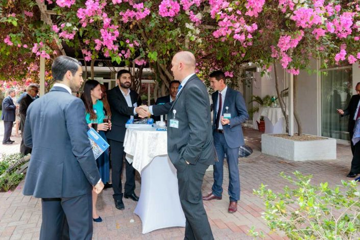 Networking at the British Consul General's Residence in Dubai