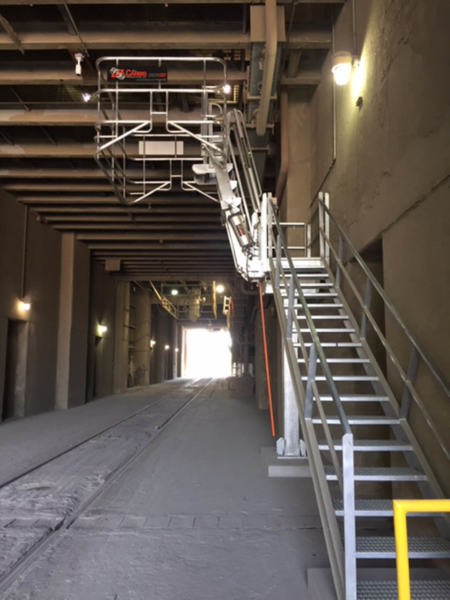 Loadtec Folding Stair For Cement And Rail Industry