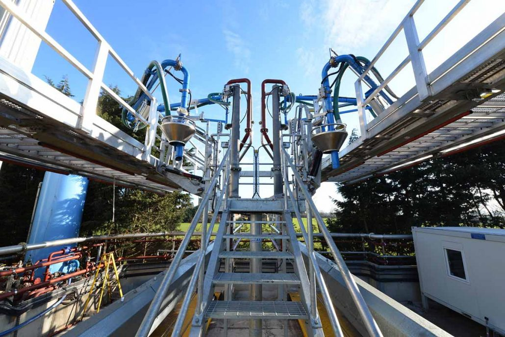 View from Loadtec Fixed Platform of the Folding Stairs, Top Loading Arms and Tanker Access System