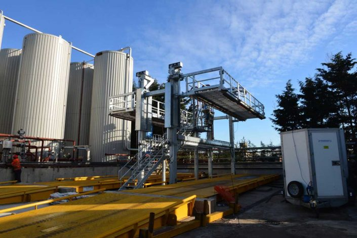 Loadtec TCEN4 Tanker Access System with Top Loading Arms at Rendering Facility - Norfolk, UK