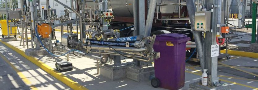 Loadtec Six Swivel Bottom Unloading Arm with Emergency Release Coupler - Limerick, Ireland