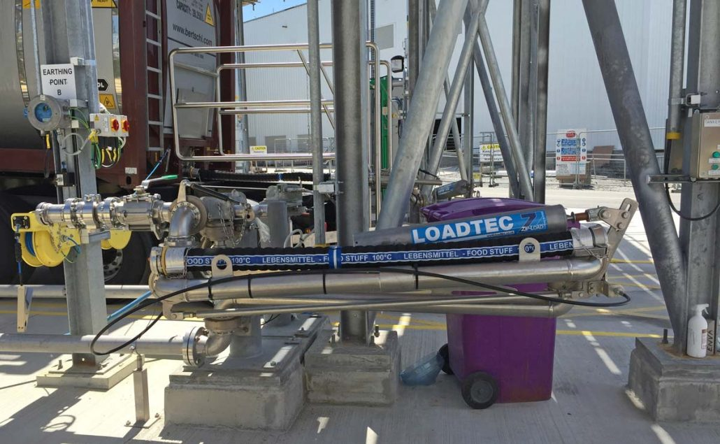 Carbis Loadtec Six Swivel Bottom Unloading Arm with Emergency Release Coupler - Limerick, Ireland