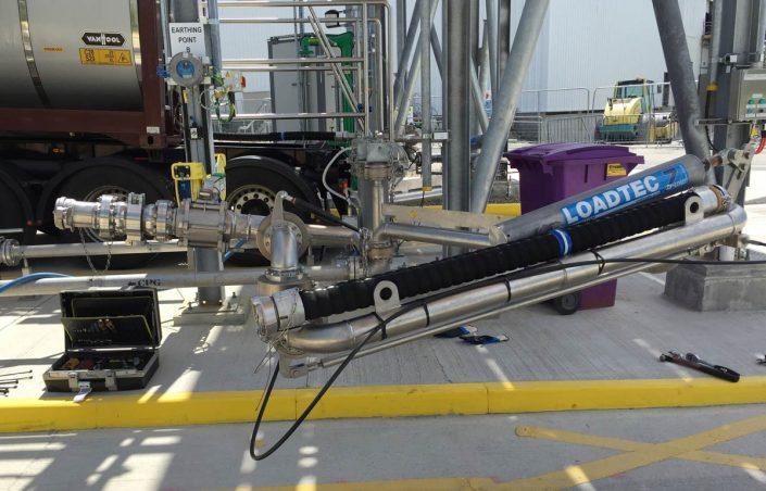 Loadtec Six Swivel Bottom Unloading Arm with Emergency Release Coupler - Limerick, Ireland