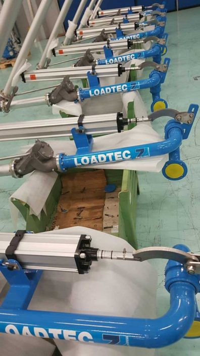 Loadtec Zip-Load Factory Visit - Close-up of Loading Arms on Assembly Line