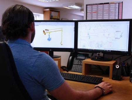 Loadtec Engineer designing a Marine Loading Arm