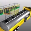 Animation showing Loadtec Track Mounted Gangways in action