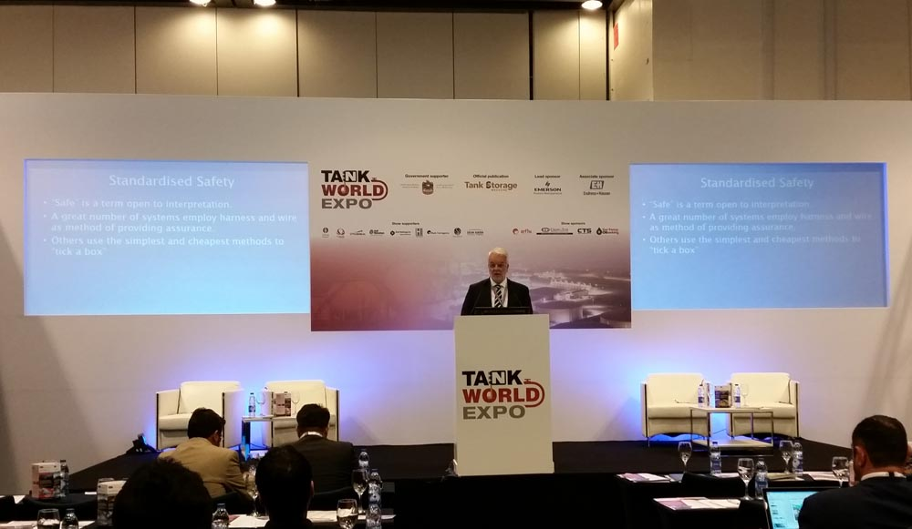 Carbis Loadtec MD chairing at Tank World Expo 2016 in Dubai