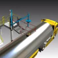 Animation showing Loadtec Top Loading (Chemical) with Hose Vapour Return Arm in action