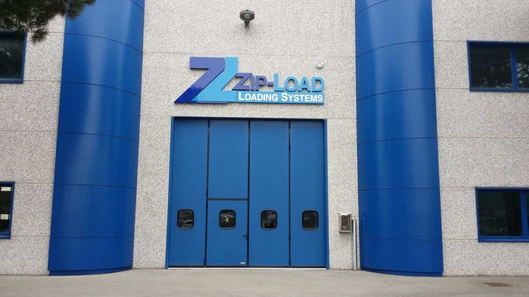 The Zip-Load signage is finally up at the factory in Bologna, Italy
