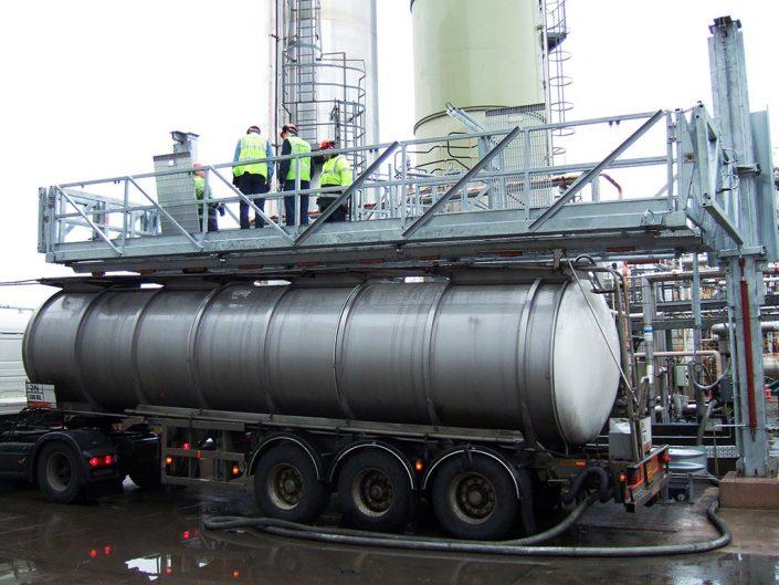 Loadtec Multi-Modal on Sloped Tanker