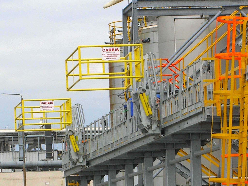 Carbis Loadtec Track Mounted Gangways - Installled in Middlesbrough, UK