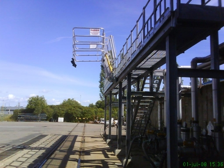 Loadtec Track Mounted Gangways - Installed in Sweden