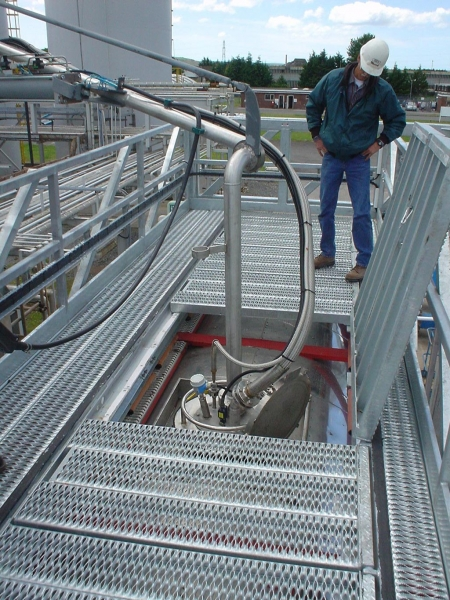 Loadtec Multi Modal Systems - Fall Prevention Systems - Tanker Access - Installed in Llanelli, Wales