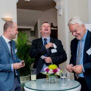 Carbis Loadtec MD Alec Keeler networking with guests at Eden Hall, Singapore