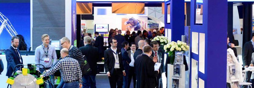 Visitors visiting stands at StocExpo 2015