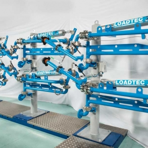 Loadtec Zip-Load LPG Arms - Side View in Factory