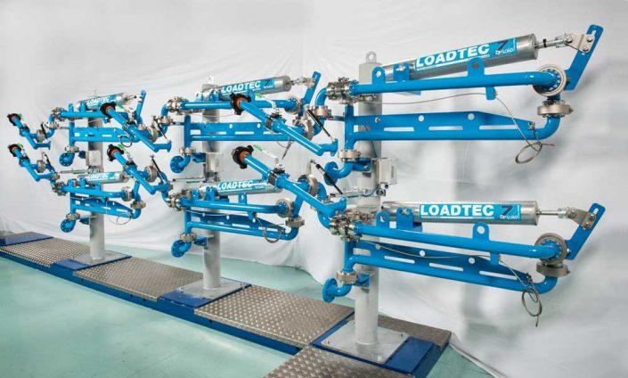 Loadtec Zip-Load LPG Arms - Side View in Factory