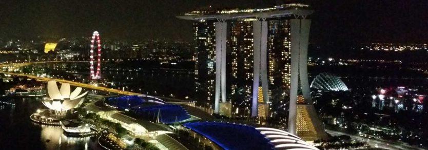 Marina Bay Sands, Singapore at night - where Tank Storage Asia 2016 will be held