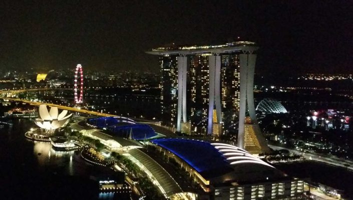 Marina Bay Sands, Singapore at night - where Tank Storage Asia 2016 will be held