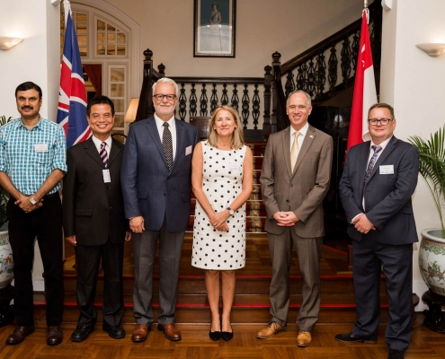 Mr Pulak Mukherjee; Mr Elton Liou; Mr Alec Keeler; Mrs Sue Keeler (all Loadtec); H.E. Mr Scott Wightman, British High Commissioner To Singapore; Mr Ken McDonald, Tyne Gangway
