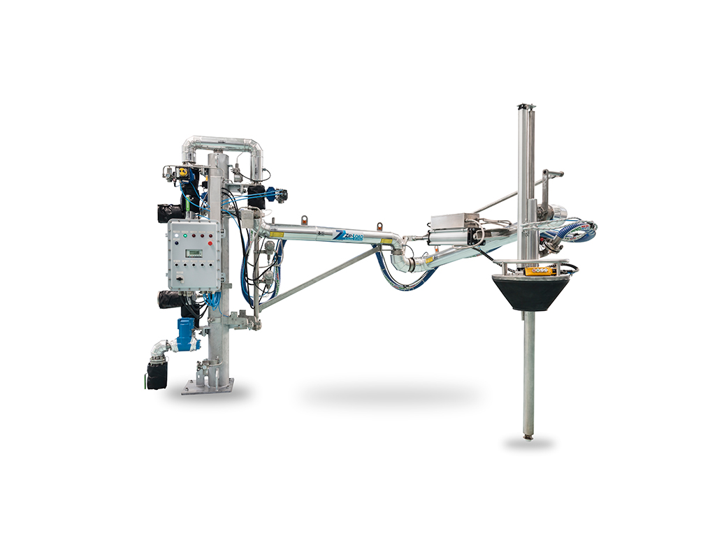 Carbis Loadtec top loading arm with built in vapour recovery and integral metering system